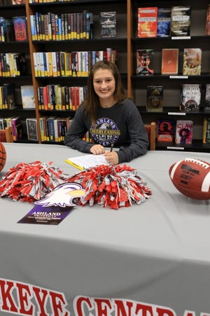 Buckeye Central's Vivienne Vanderpool will continue her cheering at the collegiate level with Ashland University.