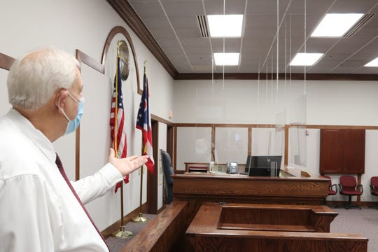 The Ottawa County Municipal Court recently had clear acrylic barriers installed throughout its offices to mitigate potential spread of COVID-19. Pandemic-related expenses like this may be eligible to be covered by CARES Act funds, more of which is set to be distributed to local government entities.