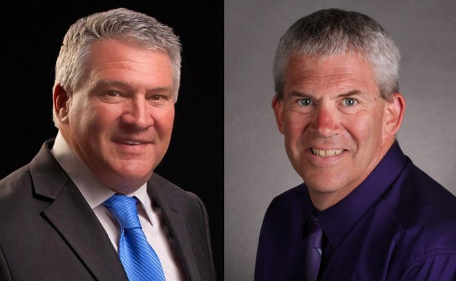 The candidates for Cape Coral city council District 3 race are Chris Cammarota, left, and Tom Hayden, right.