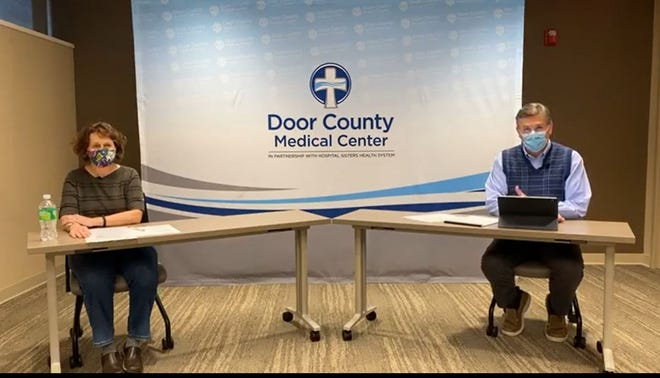 Door County Public Health Manager Sue Powers explained the department staff is overwhelmed after the last few weeks saw a surge of COVID-19 cases locally during a Facebook Live update with Dr. Jim Heise, the Chief Medical Officer at Door County Medical Center.