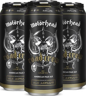Motörhead's Röad Crew American pale ale brewed by Ale Asylum go on sale nationwide in 4-packs of 16-ounce cans beginning in October. A portion of the proceeds go to Crew Nation, a fund providing financial support to touring crews out of work due to the COVID-19 pandemic.