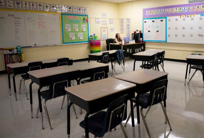 File photo of a classroom at Lincoln Elementary in Jackson, Tenn., Thursday, Sept. 24, 2020.