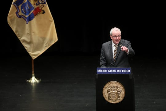 Governor Phil Murphy is shown at the Patriots Theater at the Trenton War Memorial, before signing the budget. Tuesday, September 29, 2020