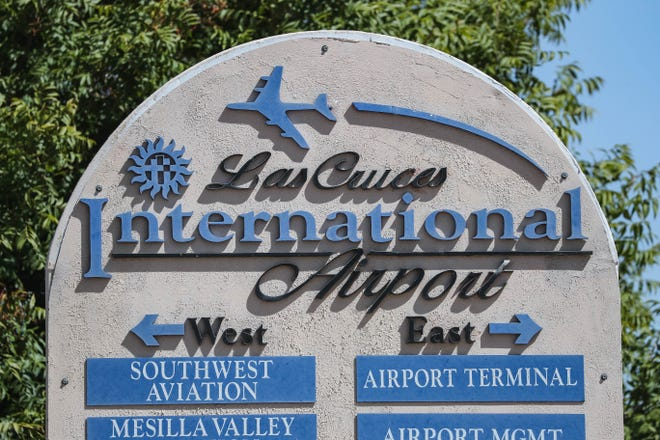A sign welcomes visitors to the Las Cruces International Airport on Tuesday, Sept. 29, 2020. The city secured $1.1 million in capital outlay in 2019 to improve the airport.