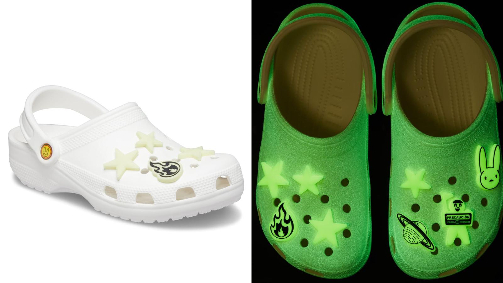 buy Bad Bunny's glow-in-the-dark Crocs