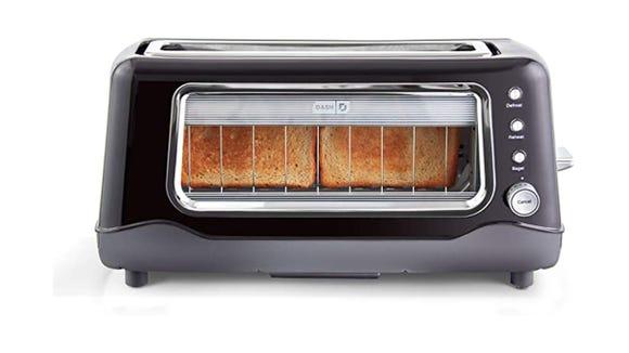 You'll never burn your toast again.