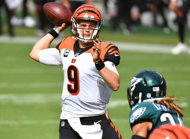 26. Bengals (26): QB Joe Burrow's 91 completions are most ever for a rookie after three games. He's on pace to shatter Cincinnati's single-season record (373), too.
