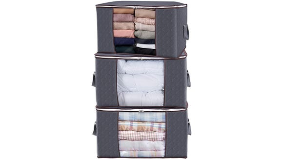 Organize your space using these large storage bags.