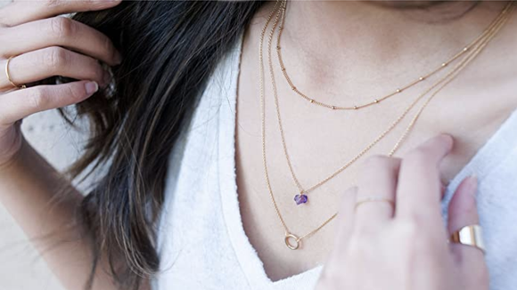 Layer your favorite jewlery.