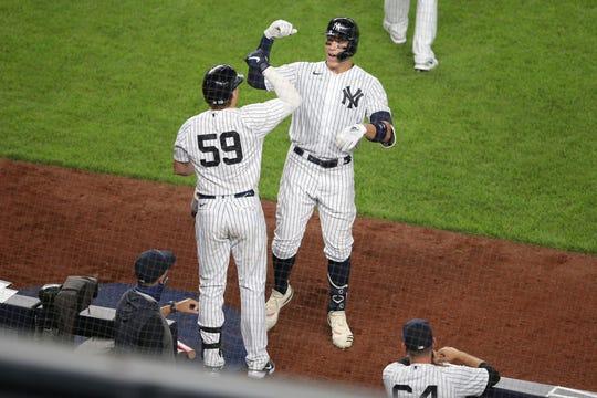 Luke Voit and Aaron Judge help power the Yankees' lineup.