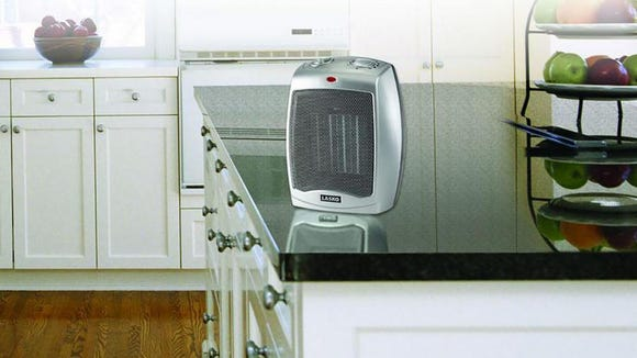 This compact heater can be easily transported to any spot in your home.