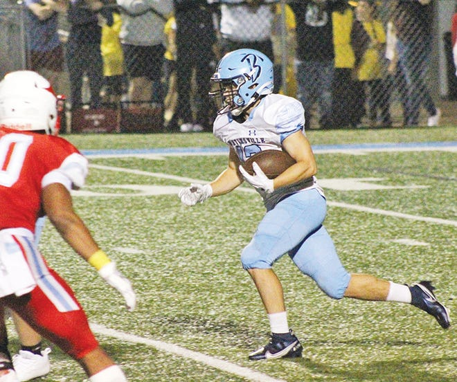 Up until this season, Dylan McCoy's primary role with the Bartlesville High football team was as the place-kicker and on kickoffs. But, he has developed this year into the team's main weapon at runningback. He also is an excellent soccer player.