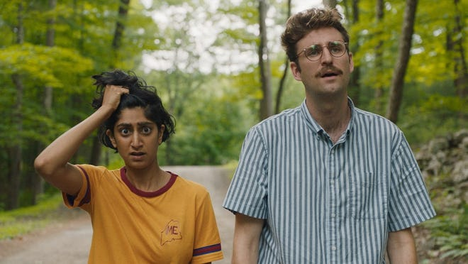 "Su (Sunita Mani) and Jack (John Reynolds) in ""Save Yourselves"""