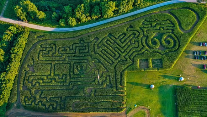 The entire Mighty Maze is pictured in this overhead view.