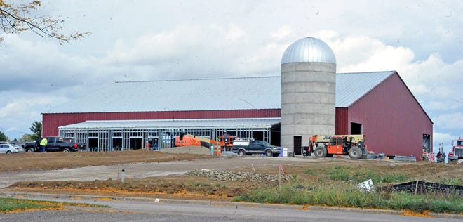 The new structure that Certified Angus Beef is building comes complete with  a silo.