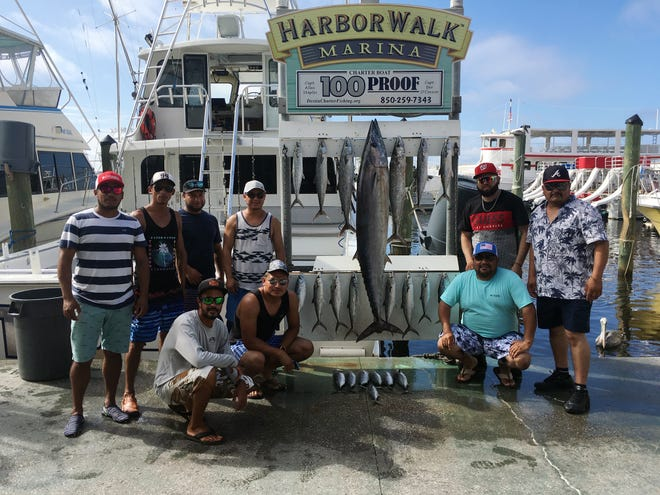 Anglers aboard the 100 Proof with Capt. Ben O'Connor pulled in an 86.9-pound wahoo while on a four-hour mackerel/shark fishing trip on Monday. Captain said the wahoo must have been lost and hungry after the hurricane.