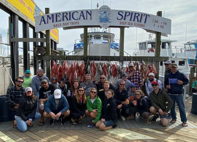 Missy Schofield of the Boathouse Oyster Bar took her staff out fishing on Tuesday aboard the New Florida Girl's American Spirit. They loaded up on mingo, triggerfish and more.