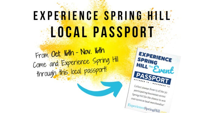 Experience Spring Hill's 2020 event will feature a Local Passport program, encouraging citizens to visit 30 local participating businesses. (Courtesy graphic/Spring Hill Chamber of Commerce)