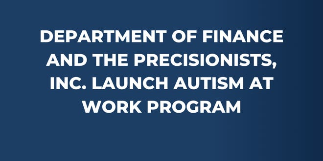 The Delaware State Department of Finance recently began collaborating with The Precisionists Inc., a Wilmington-based organization focused on employment for adults with disabilities.