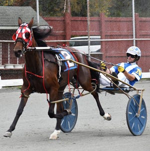 Catie Faye Hanover turned in an electrifying performance Monday afternoon at the Dyberry Oval. Owned by Wayne County's own Dunn Family, the fiery two-year-old filly rocketed to victory in the fifth race. It was her fourth win in 12 starts.