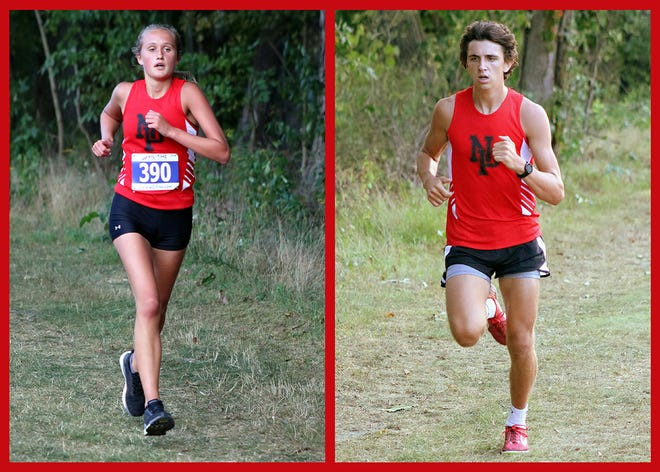 Sophomores Emily Franklin and Caleb Kenyon have been setting the pace for the North Pocono Cross Country teams. Currently the boys sit on a 4-0 record while the girls sport a 3-1 tally.