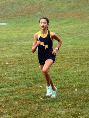 Greencastle-Antrim freshman Claire Paci raced to victory Tuesday at Waynesboro.