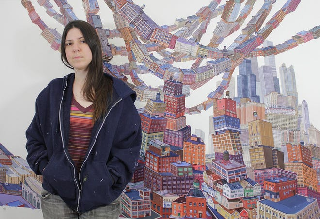 Amy Casey was born and raised in Erie and moved in 1994 to attend Cleveland Institute of Art for her bachelor's in fine arts in painting. She spent a year in Chicago then took up residence in Cleveland, working as a self-employed artist/printmaker.
