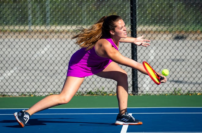 Blue Springs senior Allie Brown reached the Class 3 state quarterfinals this season after moving up to No. 1 for the Wildcats. She is The Examiner's 2020 Girls Tennis Player of the Year.