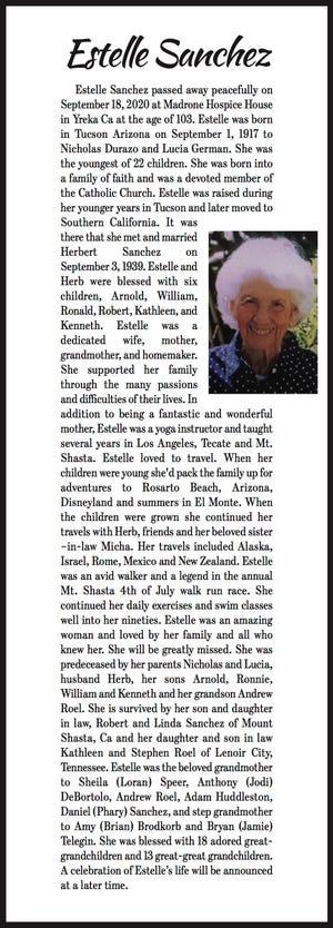 Obituary: Estelle Sanchez