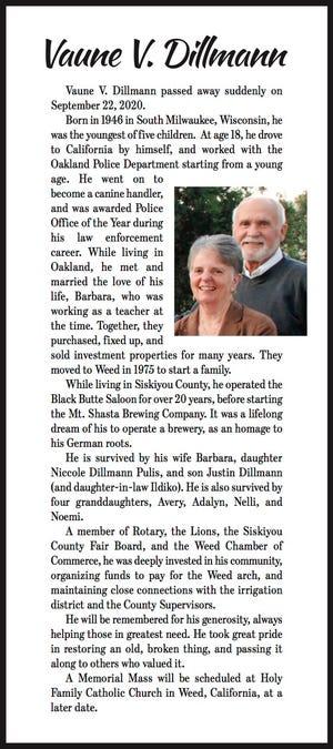Obituary: Vaune V. Dillmann