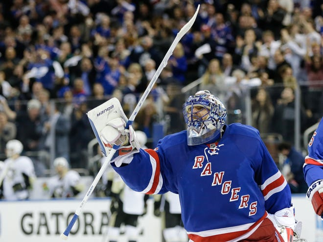 The New York Rangers have bought out the contract of star goaltender Henrik Lundqvist. The Rangers parted with one of the greatest netminders in franchise history on Wednesday when they paid off the final year of his contract. [AP FILE PHOTO]