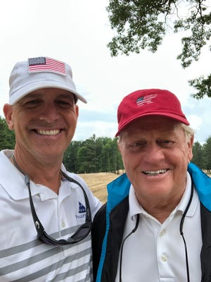 Major Dan Rooney (left) and Jack Nicklaus pose at the American Dunes Golf Club, a course located in Grand Haven, Michigan that's dedicated to the military and the families of fallen warriors. Provided Photo