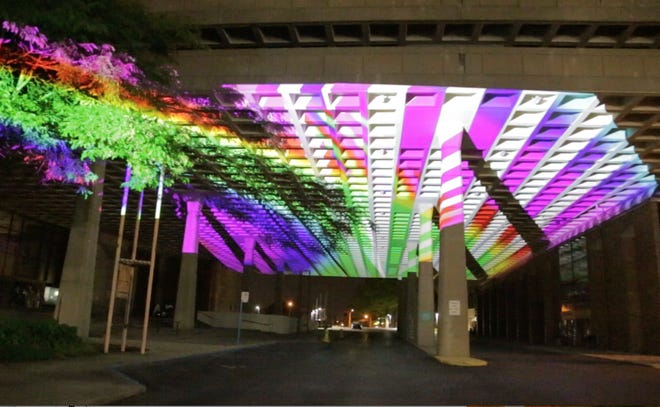 The Cultural Center for the Arts will feature a colorful light show called Ghoulish Glance during First Friday.