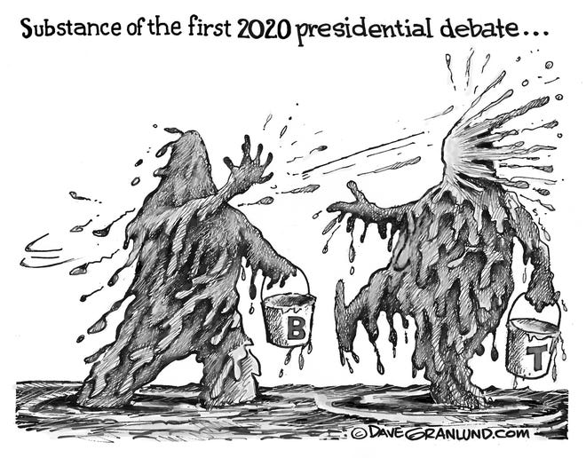 No debate about it: the mud slinging is in full gear