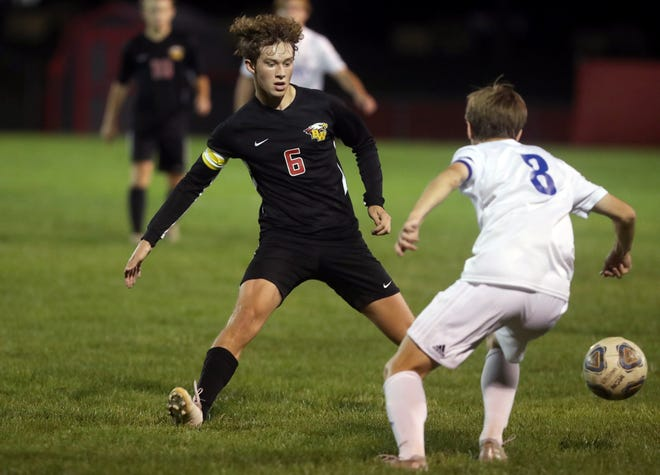 Jack Wood has settled into his role at forward and has become the leading scorer for the Big Walnut boys soccer team. The senior had nine of the Golden Eagles' 25 goals before playing Westerville North on Oct. 1.