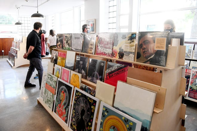 A look at the offerings at Citizen Vinyl in Asheville on Sept. 18, 2020.