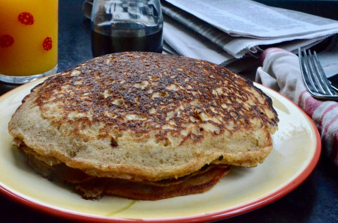 Brown and buttery, these pancakes have those desirable crispy edges and are quite fluffy.