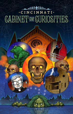 """The cover of """"Cincinnati Cabinet of Curiosities,"""" a comic anthology by local creators. Cover by Thomas O. Miller."""