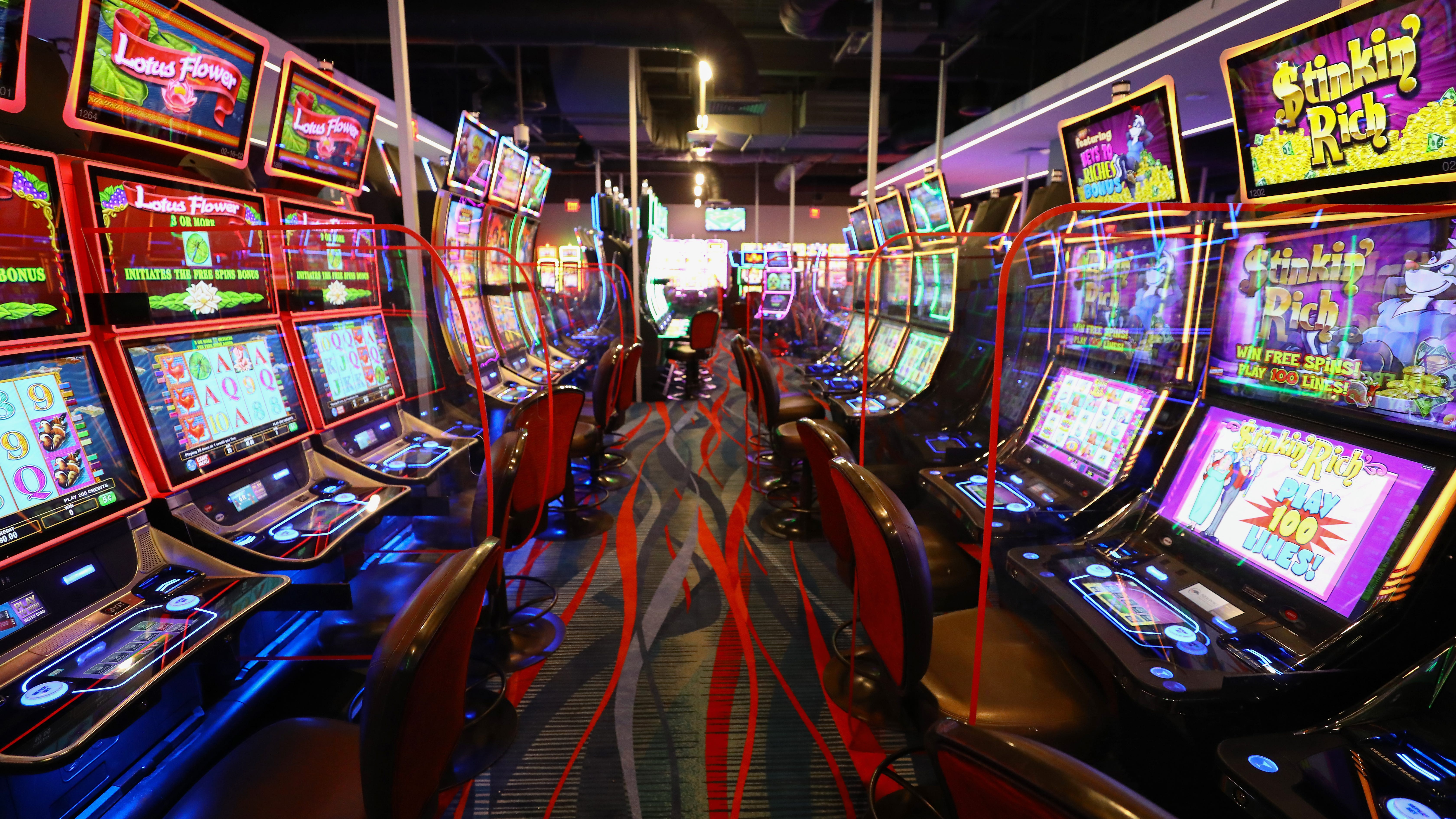 View of a the gaming area at Newport Racing & Gaming   at 1723 Monmouth St. in the Newport Plaza.