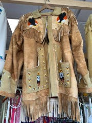 These hand-tanned Indigenous jackets are rare and are sold at the War Bonnet Native American gift shop in Shawano.