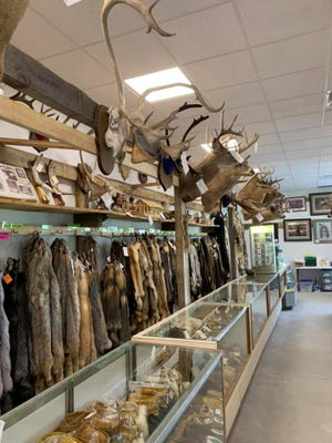 The War Bonnet Native American gift shop in Shawano sells traditional Indigenous crafts made from animal hides and pelts.