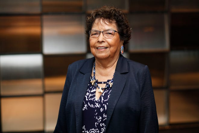 President Carole Falcon-Chandler is retiring from Aaanii Nakota College this week after 28 years.