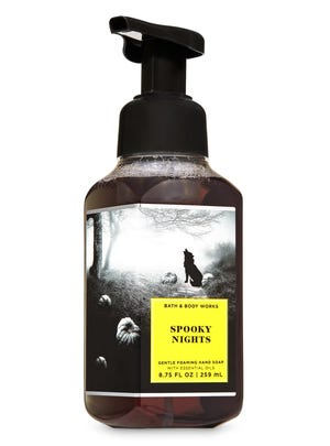 Bath and Body Works Spooky Nights Gentle Foaming Hand Soap  8.75 fl. ounces, $7.50.