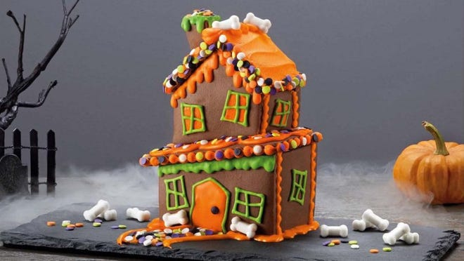 Halloween Twisted Tavern Chocolate House Cookie Kit - 13.5 ounces.  Hyde& EEk! Boutique.  $4.99 at Target