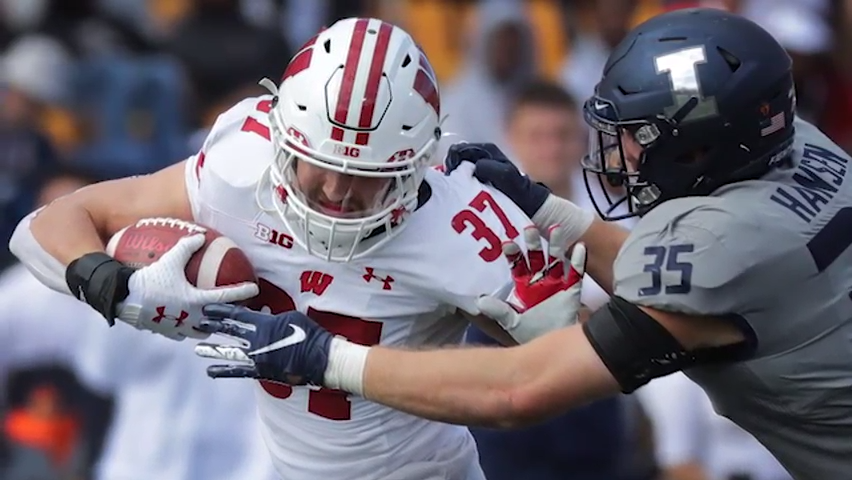 Badgers coach Paul Chryst talks about getting on without Jonathan Taylor linebackers.