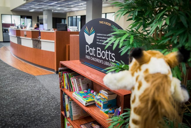 The Pat Botts Free Children's Library at Northwest Bank in Muncie.