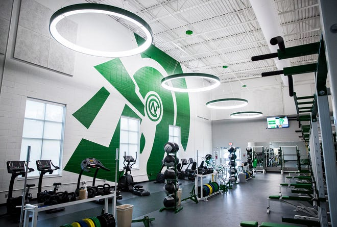 New Castle High School unveiled its new weight room in a ribbon cutting ceremony Tuesday, Sept. 29, 2020.