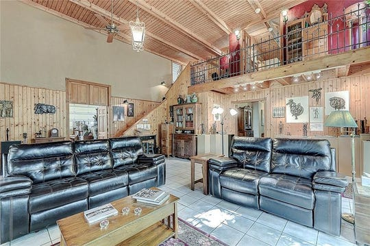 This rustic home at 13201 W. State Road 32, Yorktown, is more than 1,700-square-feet and is listed at $550,000.