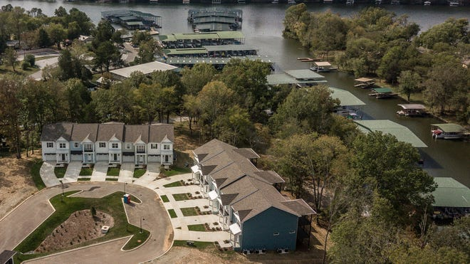 Mariners Cove is steps from Old Hickory Lake. The community will have a total of 52 townhomes.