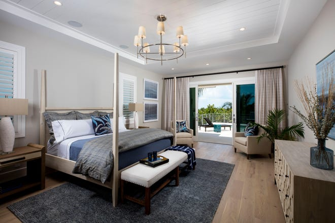 Ruta Menaghlazi has created a spectacular interior design for Seagate's furnished Captiva model that is now open for viewing and purchase at Hill Tide Estates, a 9.98-acre gated enclave on the southern tip of Boca Grande.